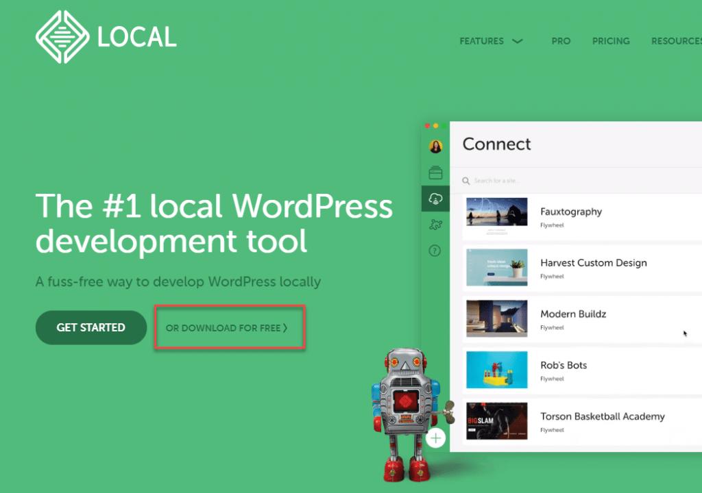 Local by flywheel是專門針對WordPress在本地端的運行所開發的軟體